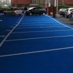 Blue Car Park Markings