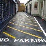 No Parking Hatchings