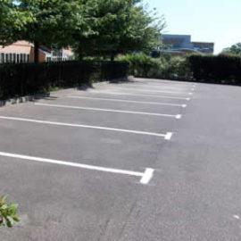 Car park construction, East Horsley, Surrey