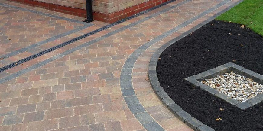 Block paving patios