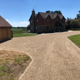 Tar and Shingle Driveway in Horsham, West Sussex