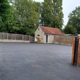 Tarmac Parking Area in Chertsey, Surrey