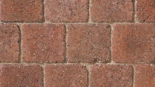 Drivesett Deco block paving Terracotta